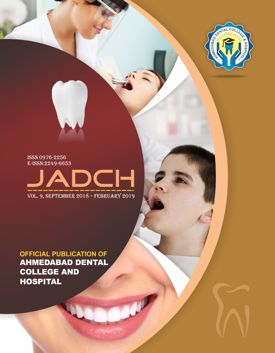 ADCH JOURNAL VOL - 9 , ISSUE 1